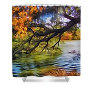 Fall Landscape 4 Shower Curtain