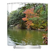 Fall Landscape Around The Lake 2 Shower Curtain