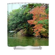 Fall Landscape Around The Lake 5 Shower Curtain