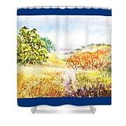 Fall Landscape Briones Park California Shower Curtain