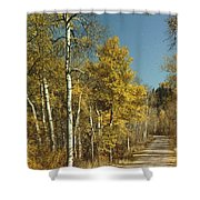 Fall Lane Shower Curtain
