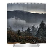 Fall Low Clouds And Fog Shower Curtain