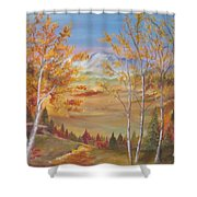 Fall Mountain Path Shower Curtain