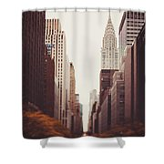 Fall On 42nd Street Shower Curtain