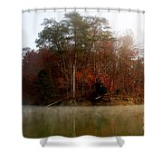Fall On Melton Hill Lake Shower Curtain