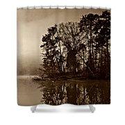 Fall On Melton Hill Lake V Shower Curtain