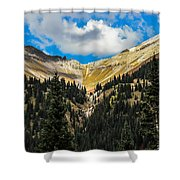 Fall On Red Mountain Pass Shower Curtain