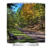 Fall On The Biketrail Shower Curtain