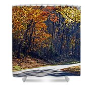 Fall On The Parkway Shower Curtain