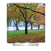 fall on the Potomac River Shower Curtain