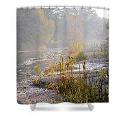 Fall On The River Shower Curtain