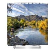 Fall On The Salt River  Shower Curtain
