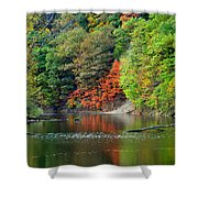 Fall Painting Shower Curtain by Frozen in Time Fine Art Photography