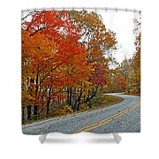 Fall Peak Along Slick Fisher Road Shower Curtain