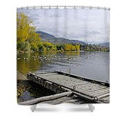 Fall Pitstop Shower Curtain