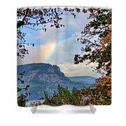 Fall Rainbow Shower Curtain