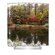 Fall Reflection And Colors Shower Curtain