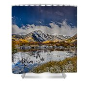 Fall Reflection Pond Shower Curtain