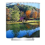 Fall Reflections At The Farm  Shower Curtain