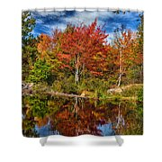 Fall Reflections In Maine Img 6312 Shower Curtain