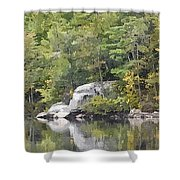 Fall Reflections Wc Shower Curtain