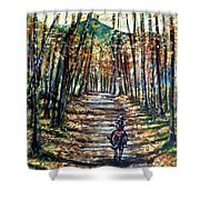 Fall Ride Shower Curtain
