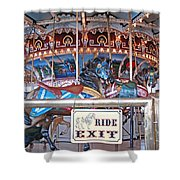Fall River Ride Exit Shower Curtain