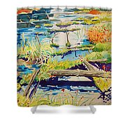 Fall River Scene Shower Curtain