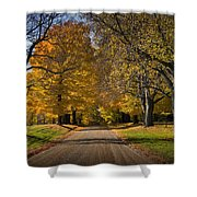 Fall Rural Country Gravel Road Shower Curtain