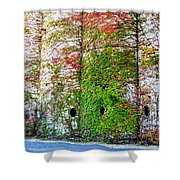 Fall Silos Shower Curtain
