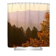 Fall Smoky Mountains Shower Curtain