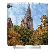 Fall Steeple Shower Curtain