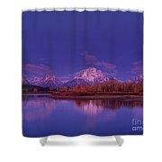 Fall Sunrise Grand Tetons National Park Wyoming Shower Curtain
