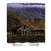 Fall Sunrise Old Barn At 21/43 Intersection Shower Curtain