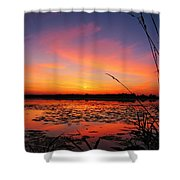 Fall Sunset In The Mead Wildlife Area Shower Curtain