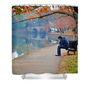 Fall Thoughts Shower Curtain