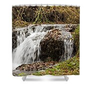 Fall Time Waterfalls Shower Curtain
