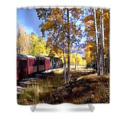 Fall Train Ride New Mexico Shower Curtain