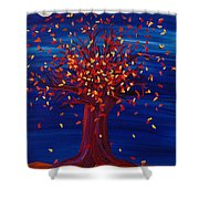 Fall Tree Fantasy By Jrr Shower Curtain