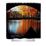 Fall Under The Bridge Shower Curtain
