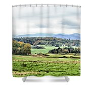 Fall Vermont Landscape Shower Curtain