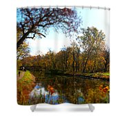 Fall Water Reflections Shower Curtain
