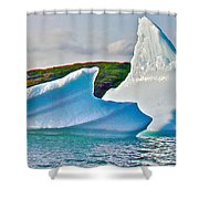 Fallen Clouds Iceberg Closeup In Saint Anthony Bay-newfoundland-canada  Shower Curtain