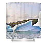 Fallen Clouds Icebergs In Saint Anthony Bay-newfoundland-canada  Shower Curtain