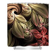 Fallen From Grace Abstract Shower Curtain