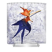 Fallen Leaf King Size Shadow Shower Curtain