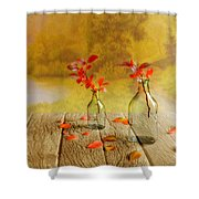 Fallen Leaves Shower Curtain by Veikko Suikkanen