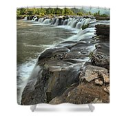 Falling Across The New River Shower Curtain
