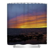 Falling Away Shower Curtain