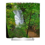 Falling Foss Waterfall In North York Moors National Park Shower Curtain